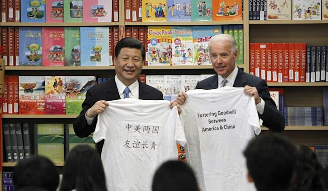Joe Biden welcomed Xi Jinping to California as vice-president in 2012, but described the Chinese President as a 'thug' during a debate earlier this year. Photo: AP