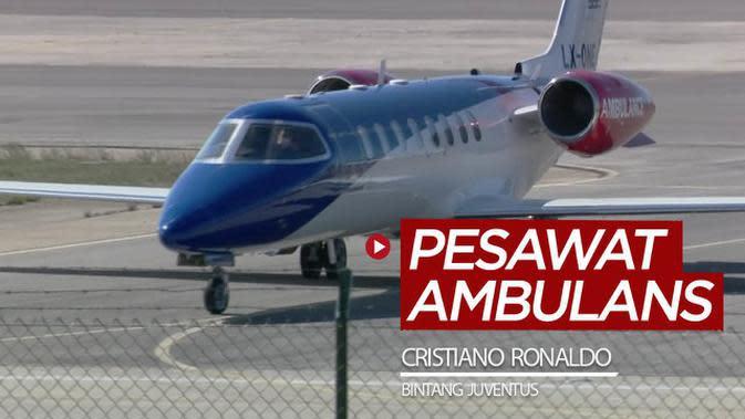 VIDEO: Melihat Pesawat Ambulans yang Bawa Bintang Juventus dan Timnas Portugal, Cristiano Ronaldo