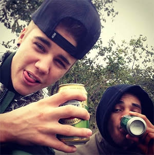 Justin Bieber Enjoys a Beer in South Africa