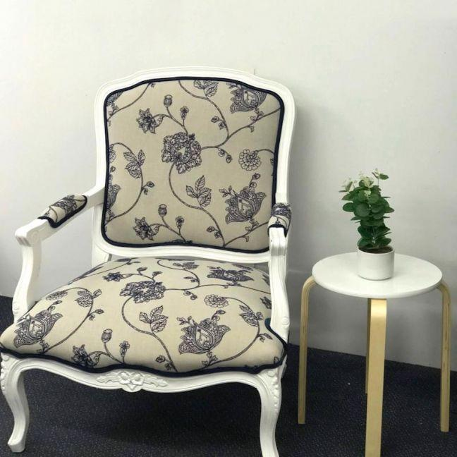 the block shop Louis French Provincial Upholstered Chair by Bedsahead