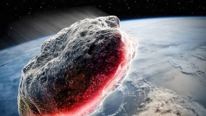 ilustrasi asteroid. (iStockphoto)