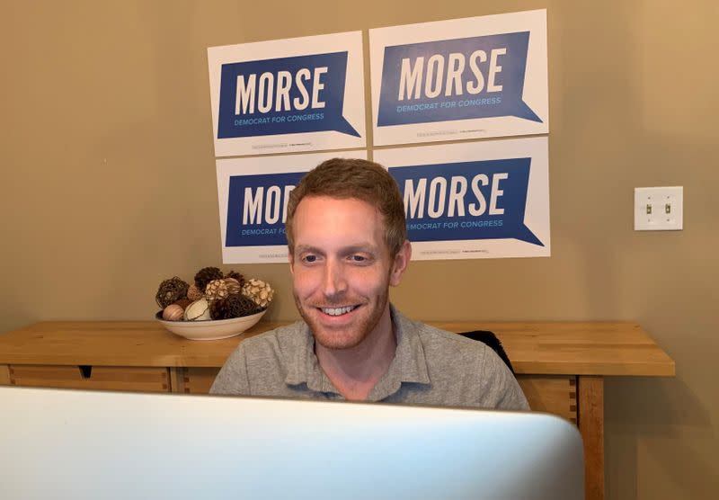 Alex Morse, Democratic candidate for Congress in the state's first congressional district, runs his campaign from home