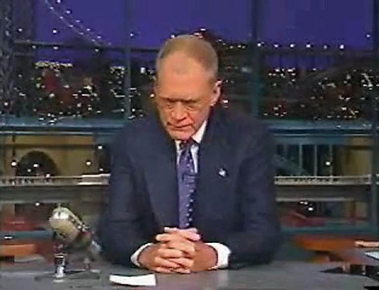 20 Classic 'Late Show' Moments We're Glad We Stayed Up For: His first post-9/11 show