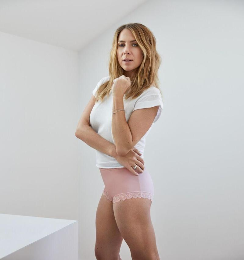 The mother-of-one showed off her amazing figure posing for the Australian underwear range. Source: Jockey