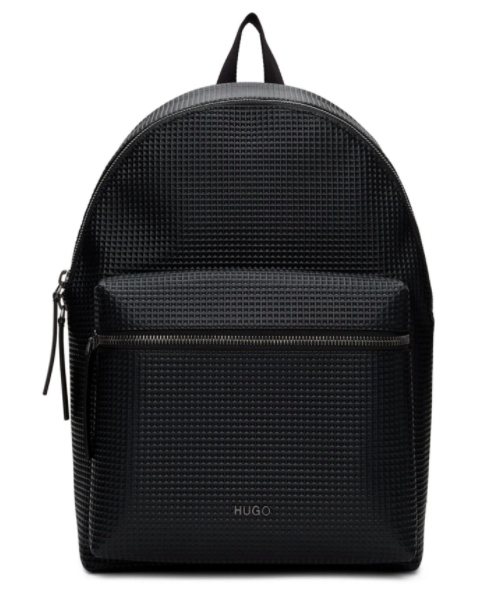 Hugo black rocket backpack, 38% off. US$262 (was US$422.65). PHOTO: Ssense