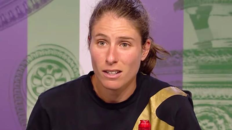 Johanna Konta slammed the journo over the 'patronising' question. Image: Wimbledon
