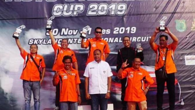 Para pemenang kelas Executive di Muba Asia Auto Gymkhana (Slalom) Cup 2019 (Liputan6.com / Nefri Inge)