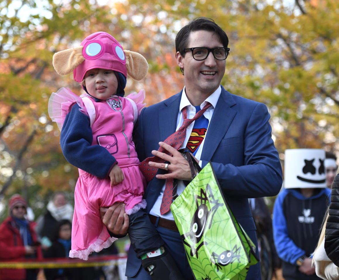 <p>In 2017 the Prime Minister decided to channel his inner-superhero, wearing a Superman costume to both Question Period and to take his kids trick or treating. Photo: AAP </p>