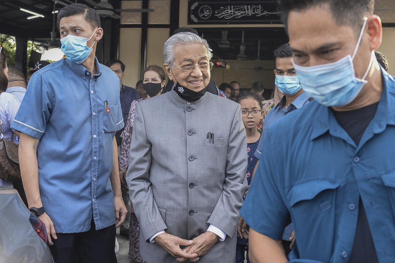In 2016, Dr Mahathir quit Umno in light of its support for the actions of then prime minister Datuk Seri Najib Razak over the 1Malaysia Development Berhad scandal. — Picture by Miera Zulyana