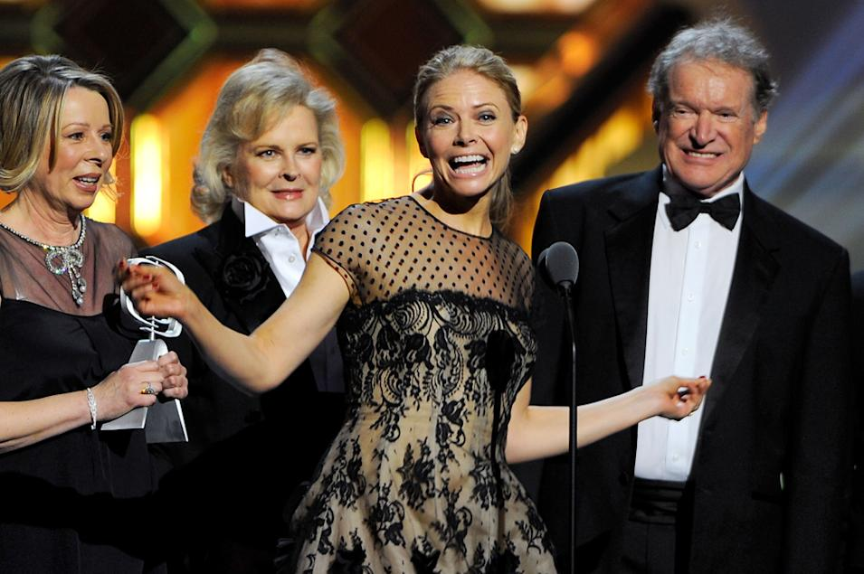 Diane English, Candice Bergen, Faith Ford and Charles Kimbrough