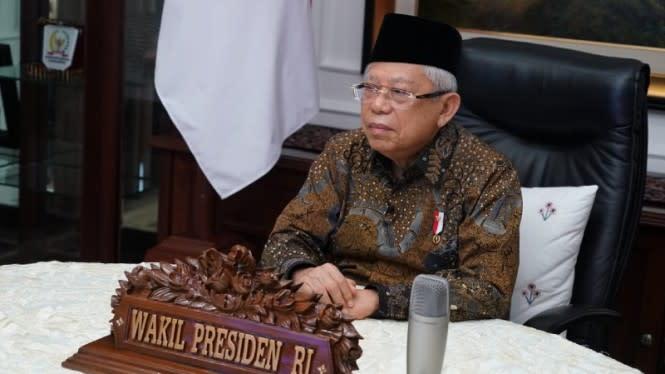 Wapres Ma'ruf Amin Beri Pemahaman Pentingnya UU Ciptaker ke Depan