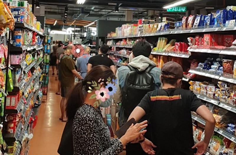 Shoppers at the snack aisle in Village Grocer at Cyberjaya. Photo: Twt_Cyberjaya/Twitter