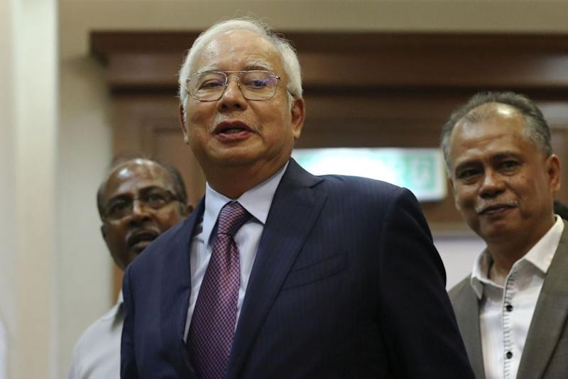 Last month, Datuk Seri Najib Razak had backed a 'live' broadcast of his trial over the abuse of RM42 million in funds from a former unit of 1MDB. — Picture by Yusof Mat Isa