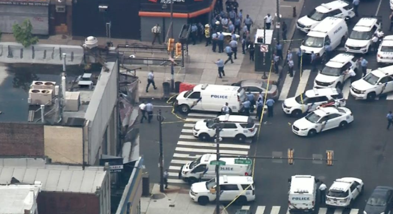 The area shots were fired was quickly put into lockdown. Source: CNN