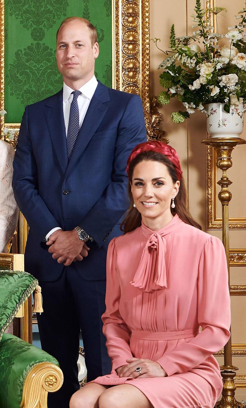 Prince William and Kate Middleton in royal family portrait released for Archie's christening