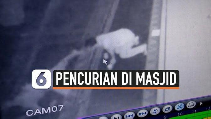 VIDEO: Rekaman CCTV Pencurian di Masjid setelah Dibuka di Masa PSBB Transisi