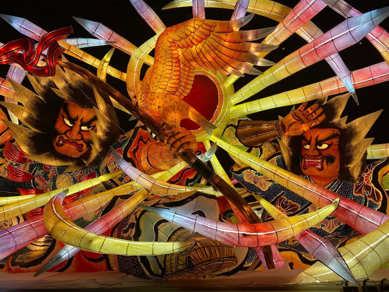 These Colourful Nebuta floats are a must-see in Aomori. — Picture by Melanie Chalil