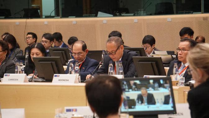 Pertemuan ASEAN-Uni Eropa Senior Officials Meeting digelar di Brussel, Belgia. (Kemlu RI)