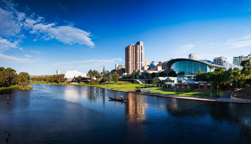 Gondola ride on the Torrens River Adelaide, South Australia