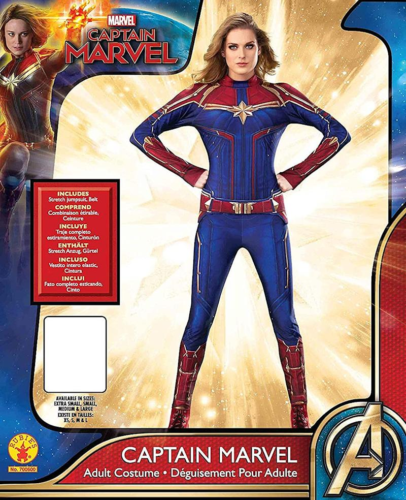 Women's Captain Marvel Hero Suit. Image via Amazon.