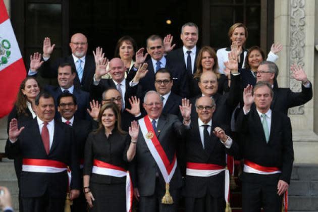 Peru opposition-ruled Congress approves Kuczynski's new cabinet