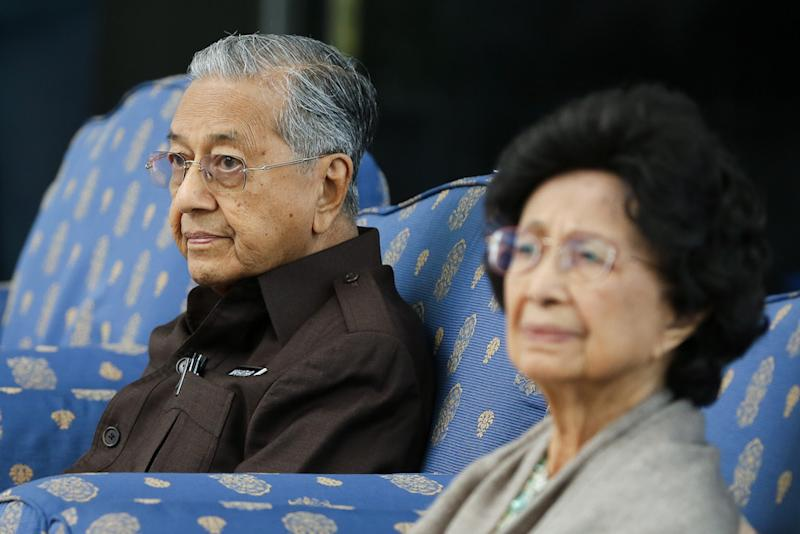 Prime Minister Tun Dr Mahathir Mohamad and Tun Dr Siti Hasmah Mohamad Ali attend the launch of the National Heritage and Culture Charter in Kuala Lumpur September 20, 2019. — Picture by Yusof Mat Isa