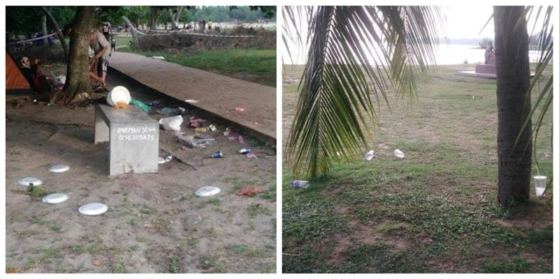 Negri Sembilan Mentri Besar Datuk Seri Aminuddin Harun told visitors to dispose of their waste in the right place in his Facebook post. — Pictures via Facebook