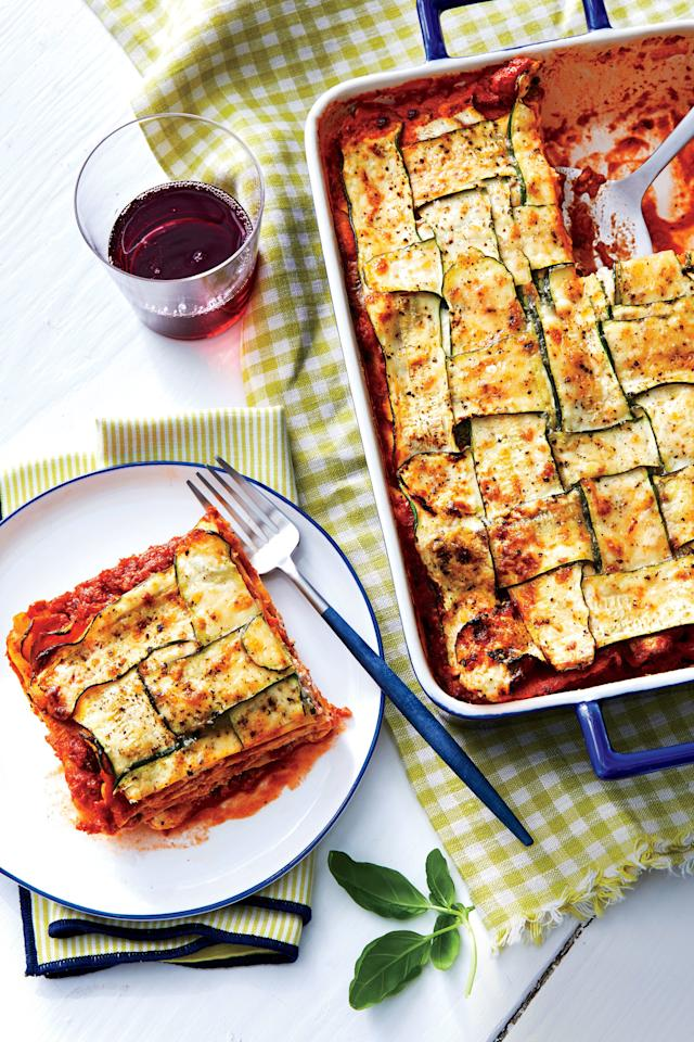 "<p><b>Recipe: <a href=""https://www.southernliving.com/recipes/zucchini-lasagna-recipe"">Zucchini Lasagna</a></b></p> <p>If you think going meatless will make your lasagna any less comforting, let this cheesy recipe prove you wrong. </p>"