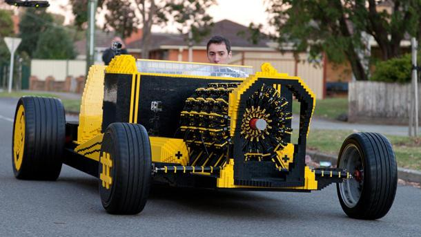 Life-size, road-going Lego roadster hits the bricks