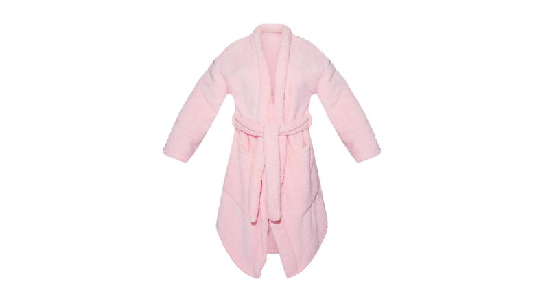 PRETTYLITTLETHING X COPPAFEEL! Pink Fluffy Dressing Gown