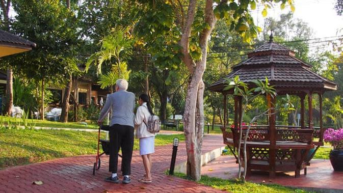 Sebuah resor perawatan di Thailand, beberapa fasilitas lebih mirip hotel bintang empat. (Liputan6/Caleb Johnston)