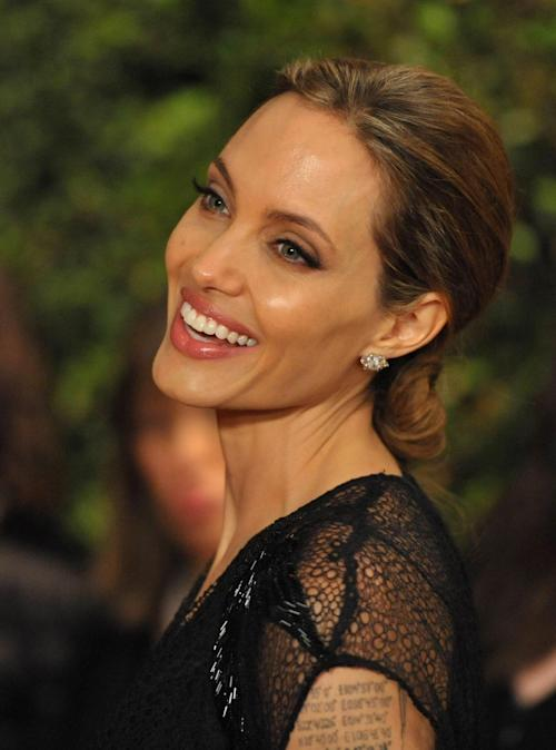 Angelina Jolie seen on the red carpet at the 2013 Governors Awards, on Saturday, Nov. 16, 2013 in Los Angeles (Photo by John Shearer/Invision/AP)