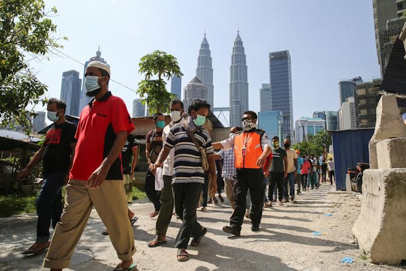 Foreign workers and migrants in Malaysia have become the target of cyber-racism after the recent spike in the number of new Covid-19 cases. — Picture by Yusof Mat Isa