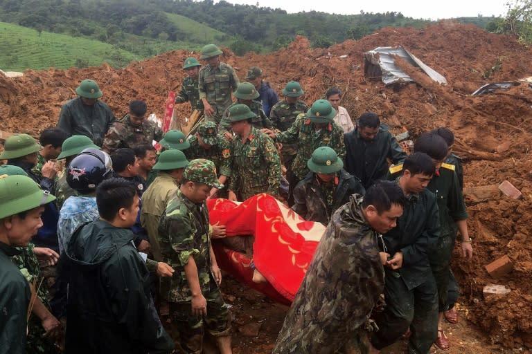 11 soldiers dead, 11 missing in Vietnam after second big landslide in days