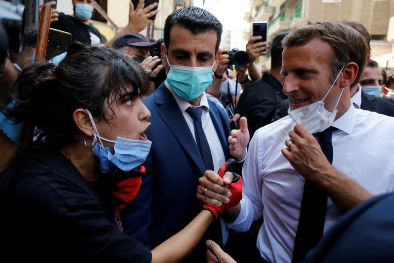 'Revolution': Angry crowds in Beirut urge Macron to help bring change