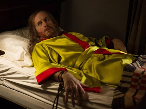 "This photo provided by FX shows Denis O'Hare as Spalding in a scene from FX's ""American Horror Story: Coven."" Violent dramas on the broadcast networks carry milder parental cautions than cable shows but can equal them in graphic gore, a failure of the TV ratings system, according to a Parents Television Council study released Monday, Dec. 9, 2013. (AP Photo/FX, Michele K. Short)"