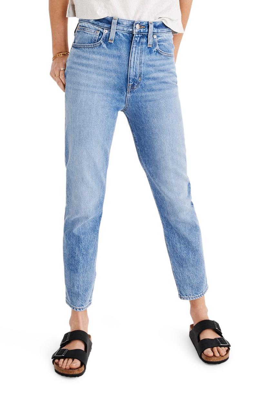 Madewell The Momjean High Waist Jeans. Image via Nordstrom.