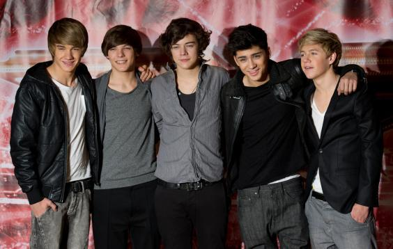 From left to right: Liam Payne, Louis Tomlinson, Harry Styles, Zayn Malik, Niall Horan (Getty)