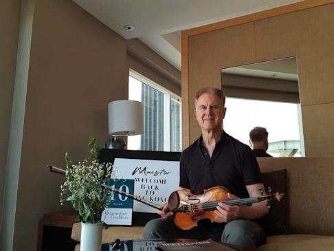 The Munich-based musician is holed up in a Hong Kong hotel as part of the city's pandemic requirements. Photo: Handout