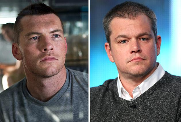 Sam Worthington and Matt Damon