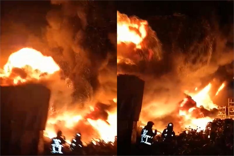 快新聞/樹林資源回收廠大火延燒2工廠 警消搶救中
