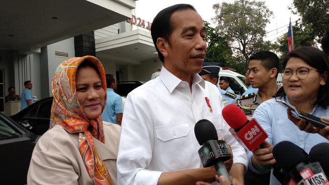 Presiden Jokowi dan Ibu Negara Iriana (Merdeka.com/ Ahda Bayhaqi)