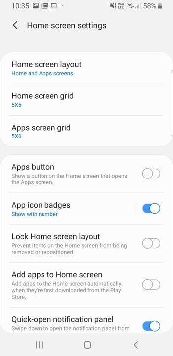 galaxy s9 tips and tricks update home screen settings