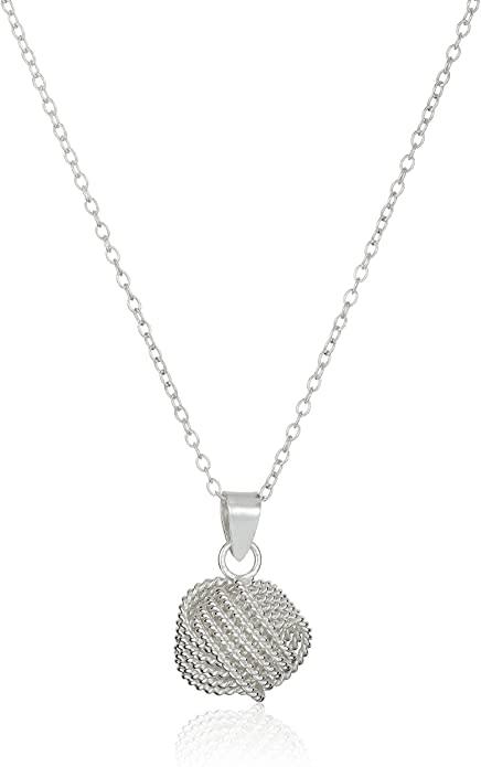 "Sterling Silver ""Love Knot"" Pendant Necklace. Image via Amazon."