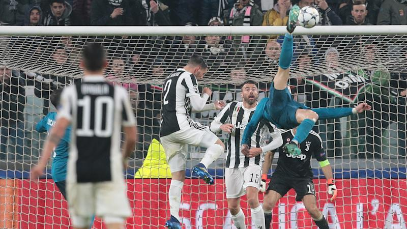 Cristiano Ronaldo Real Madrid Juventus bicycle kick goal Champions League 2017