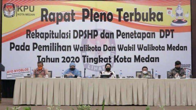 KPU Tetapkan DPT Pilkada 2020 Medan, Jumlah Pemilih Turun