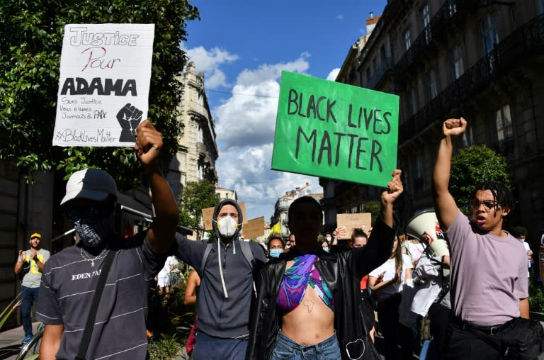 Many French protests have coalesced around the 2016 death of young black man Adama Traore in police custody