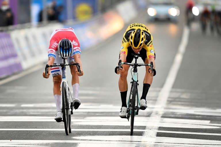 Van der Poel wins Tour of Flanders, Alaphilippe crashes into motorbike