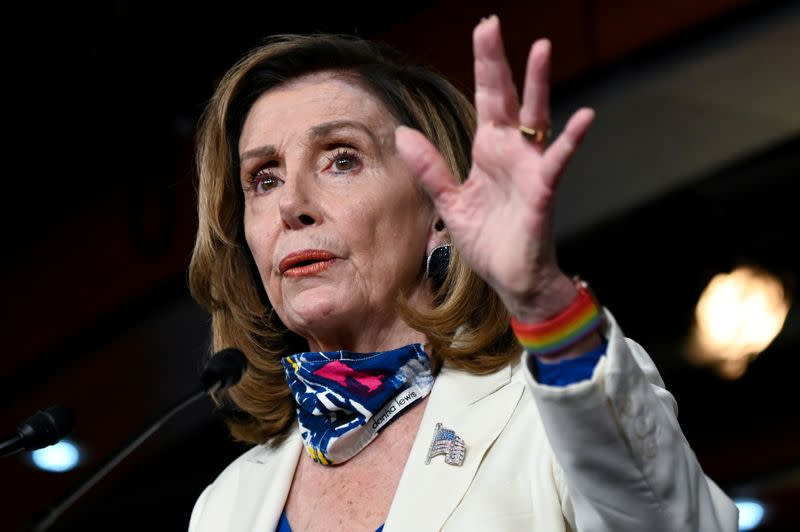 U.S. House Speaker Pelosi, Treasury Secretary Mnuchin spoke by phone on coronavirus aid