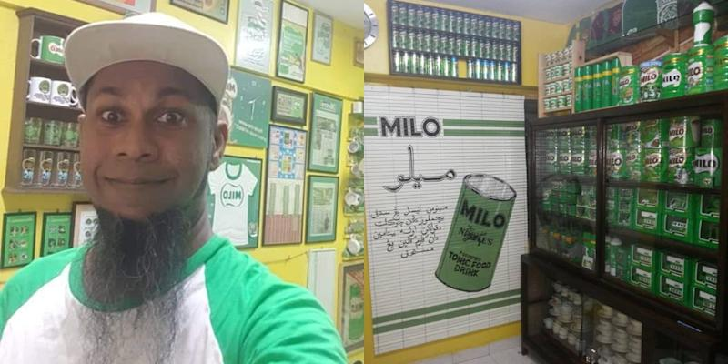 When he's not working as a lab technician, Yusof spends his spare time chasing down Milo collectables for his gallery. — Picture courtesy of Mohd Yusof Ali